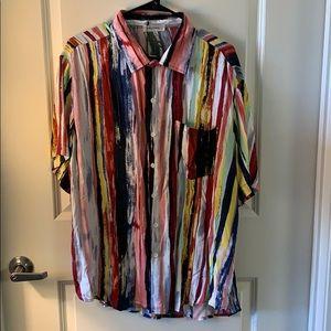 Multi color button down shirt